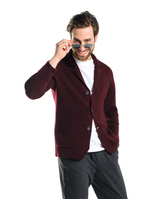 Пиджак бордовый | 5632102