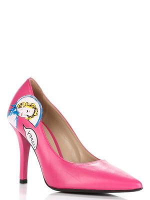 Туфли розового цвета с декором | 5701885