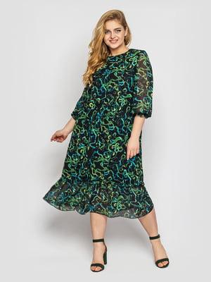 Сукня комбінованого кольору з принтом | 5701864