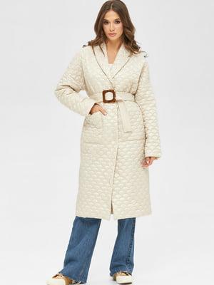 Пальто молочного кольору   5701986