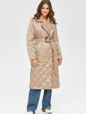 Пальто кольору капучіно   5701991