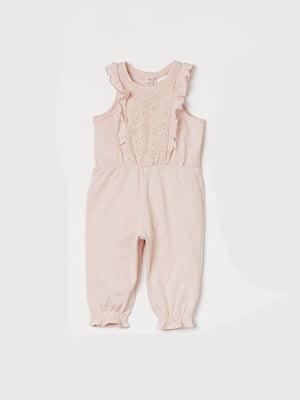 Комбинезон розовый | 5683547