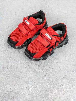 Кросівки червоно-чорні | 5643415