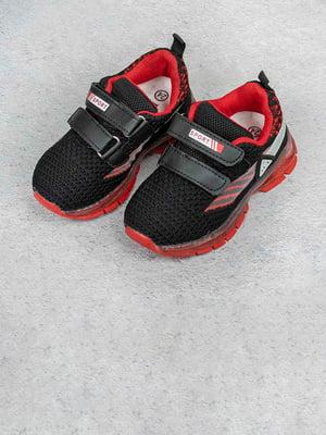 Кросівки чорно-червоні | 5643428