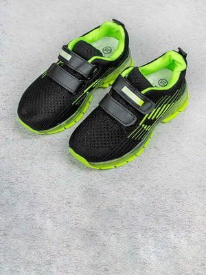 Кросівки чорно-салатові | 5643429