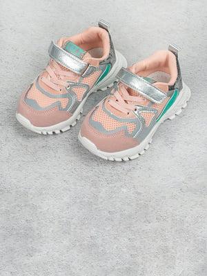 Кросівки рожево-сріблясті   5643441