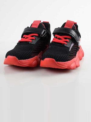 Кросівки чорно-червоні | 5645552