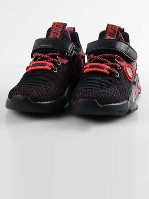 Кросівки чорно-червоні | 5645558
