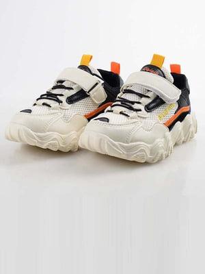Кроссовки бело-черные | 5645570