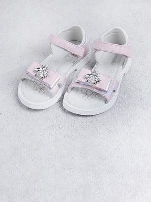 Сандалі рожевого кольору з декором | 5701583
