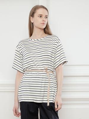 Блуза белая в полоску | 5702821