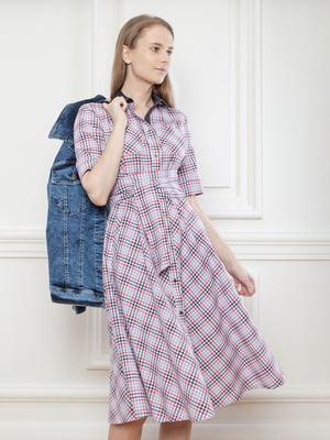 Платье-рубашка у клетку | 5702908