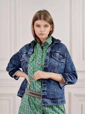 Куртка джинсовая синяя | 5702933