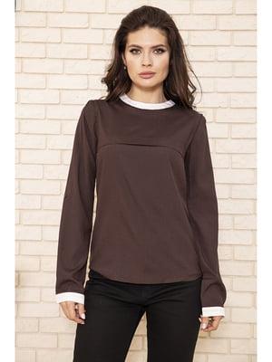 Блуза шоколадного цвета   5703697