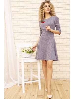 Платье сиреневого цвета с цветочной вышивкой | 5703897