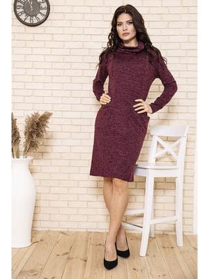 Платье бордовое | 5703910