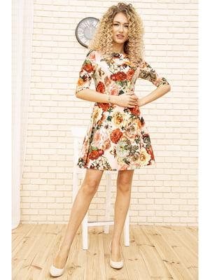 Платье розового цвета с цветочным принтом | 5703923