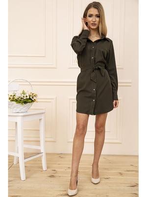 Сукня-сорочка кольору хакі | 5703938