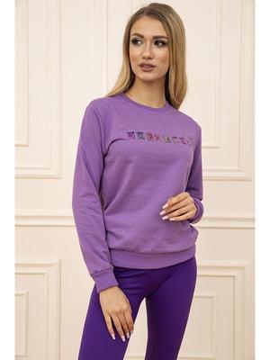 Свитшот фиолетовый с принтом   5704086
