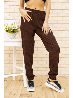 Штани коричневого кольору | 5704120