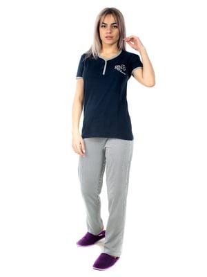 Пижама: футболка-поло и брюки | 5350967