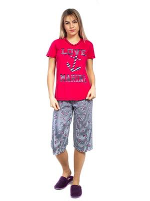 Пижама: футболка и бриджи | 5653016