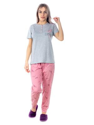 Пижама: футболка-поло и брюки | 5704252