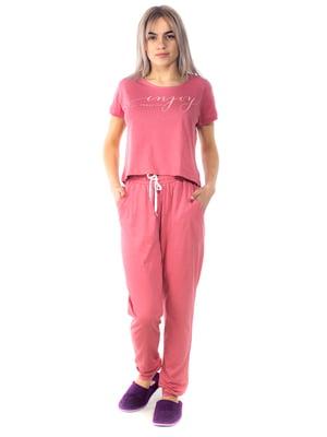 Пижама: футболка и брюки | 5704257
