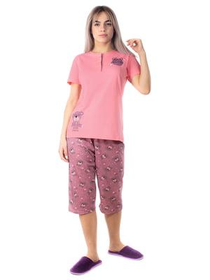 Піжама: футболка-поло та бриджі | 5704261