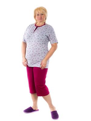 Пижама: футболка-поло и бриджи | 5704268