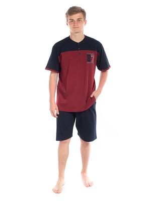 Пижама: футболка-поло и шорты | 5704297