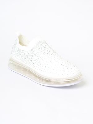 Кросівки білі з декором | 5702477