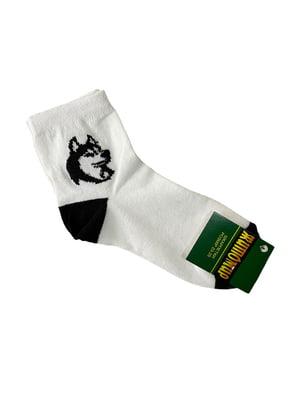 Носки белые с принтом | 5704474