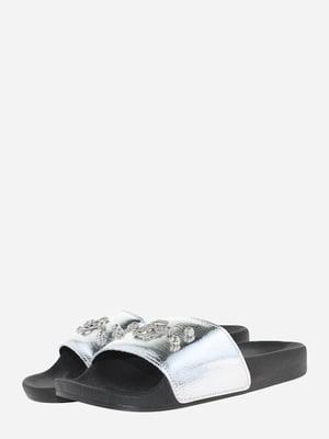 Шльопанці сріблястого кольору   5690918