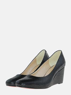 Туфлі чорні з візерунком   5703117