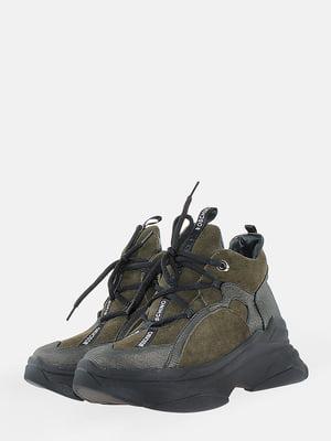Ботинки цвета хаки | 5704543