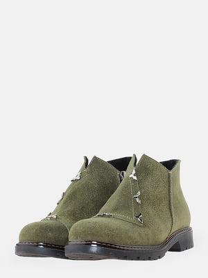 Ботинки цвета хаки | 5704548