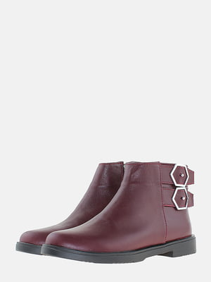 Ботинки бордовые | 5704552