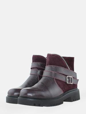 Ботинки бордовые | 5704555