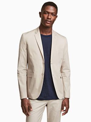 Пиджак светло-бежевый | 5704621