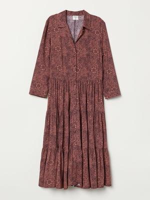Платье темно-розовое в принт | 5704713
