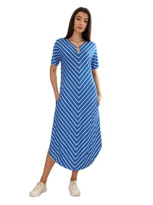 Платье голубое в полоску | 5476232