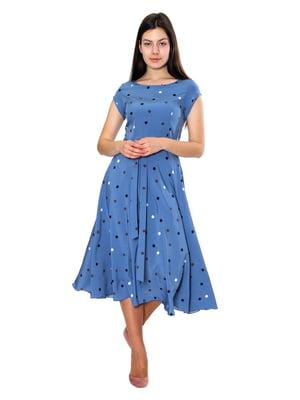 Сукня блакитна в горох | 5491236