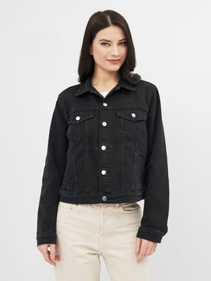 Куртка джинсова чорна | 5704804
