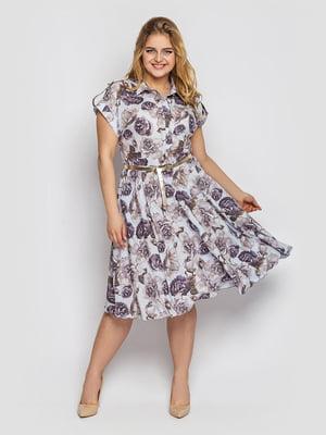 Платье в цветочный принт | 5705436