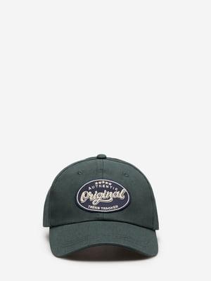 Бейсболка зеленая с логотипом | 5705518