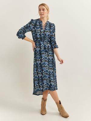 Сукня синя в принт   5705555