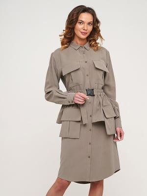Сукня оливкового кольору | 5705737