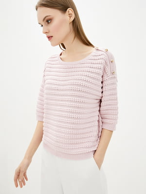 Джемпер розовый в полоску | 5706597