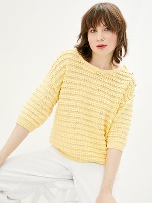 Джемпер жовтий в смужку | 5706600